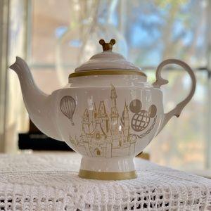 Disney Carousel Teapot Cinderella Castle White